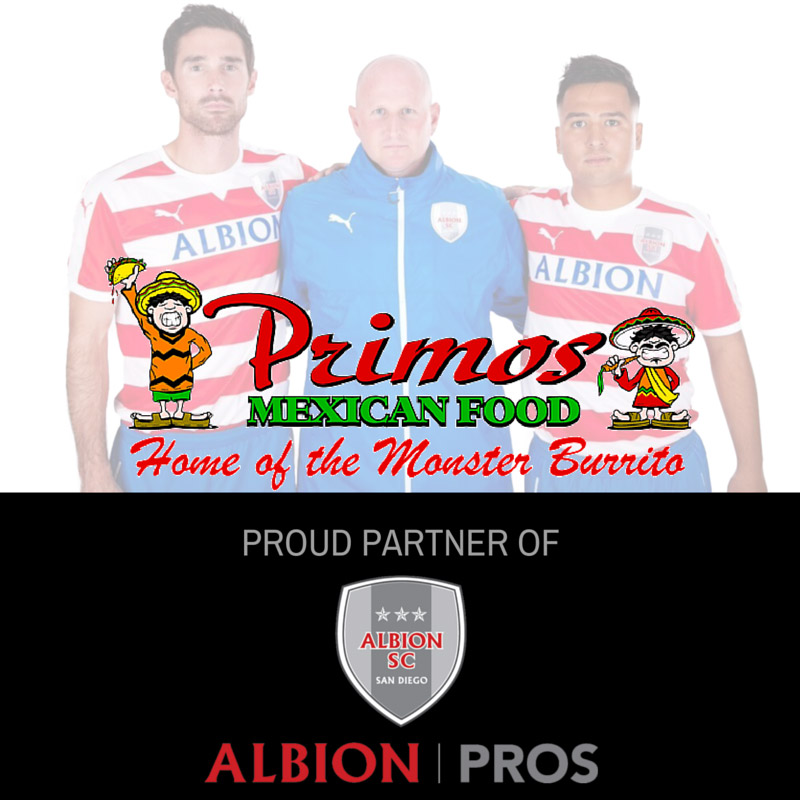 Albion Pros Partners with Primos Mexican Food