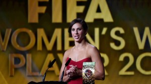 Carly Lloyd named FIFA World Player of the Year