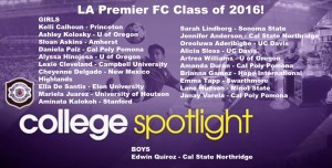 LA Premier FC Sends 21 Seniors to College