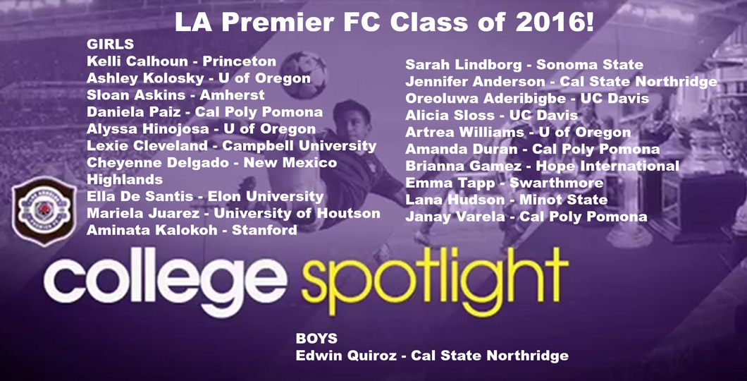 LA Premier FC Sends 21 Seniors to College