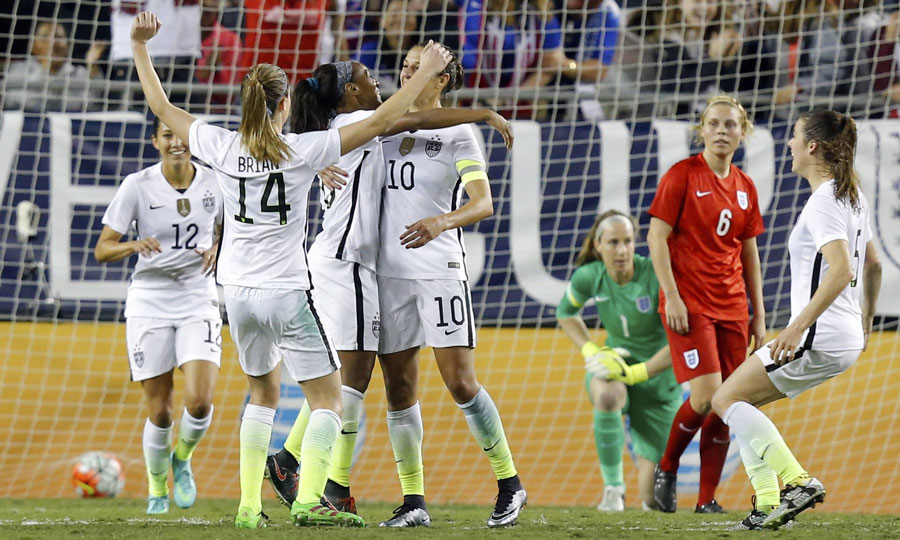U.S. Women's National Team Defeat England 1-0