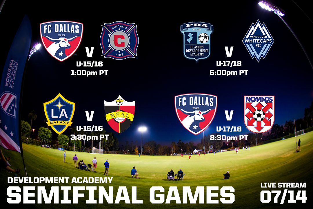 LA Galaxy U-15/16 & Nomads U-17/18 Advance To USSDA Semifinals