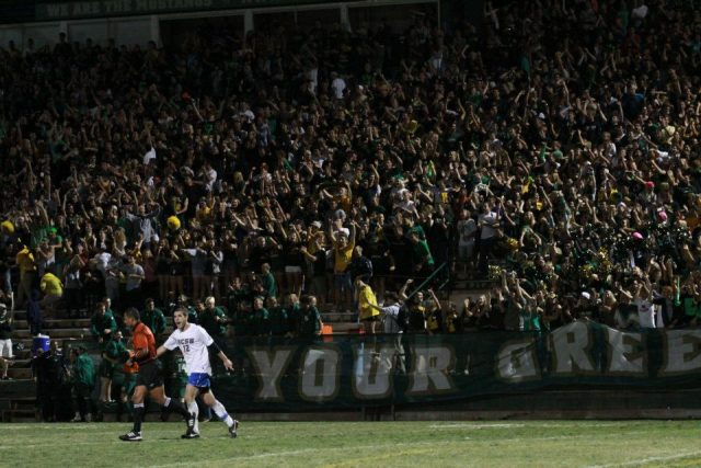 The Wall of Green at Spanos Stadium, Cal Poly vs. UCSB