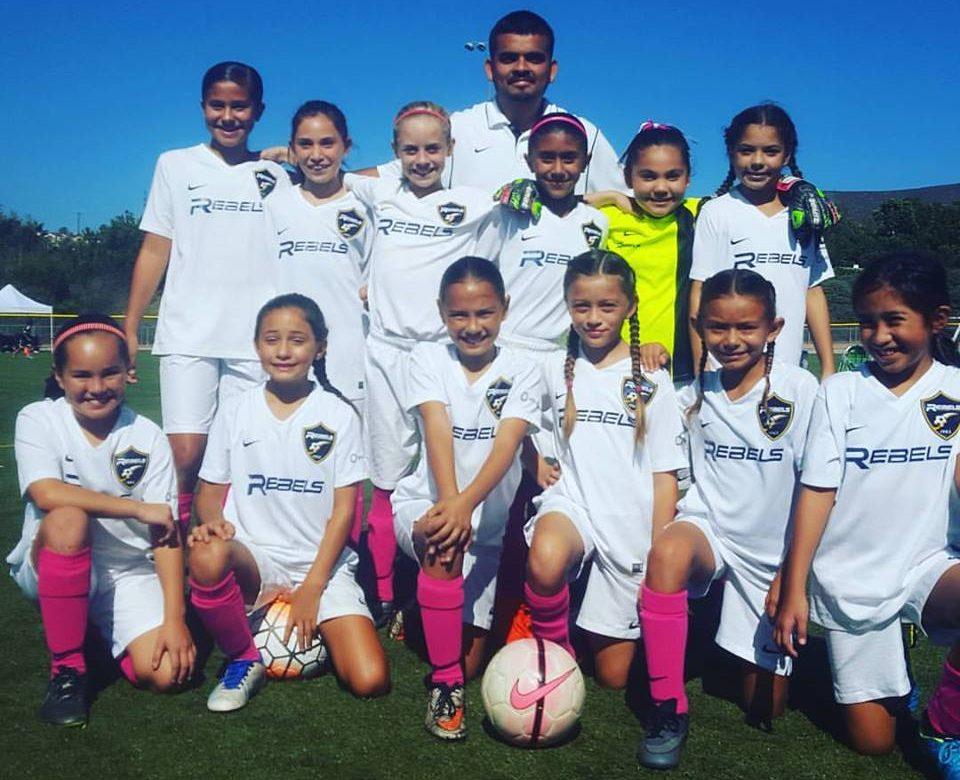 Rebels Girls 2006 Blue Team Scores Big in Fundraising Goals