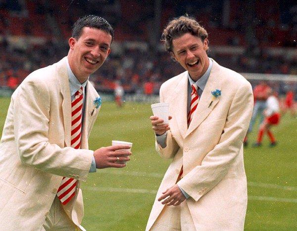 'Spice Boys' Robbie Fowler and Steve McManaman