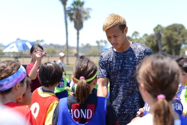 Keisuke Honda Embarks on U.S. Youth Soccer Development