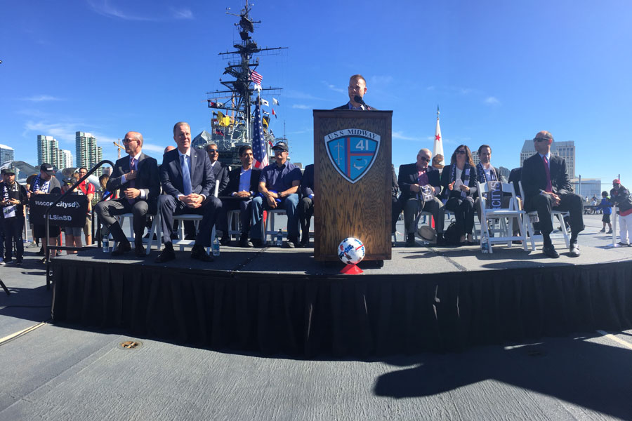 All Aboard The Midway: MLS Commissioner Don Garber, Mayor Kevin Faulconer, and Landon Donovan speak to SoccerNation