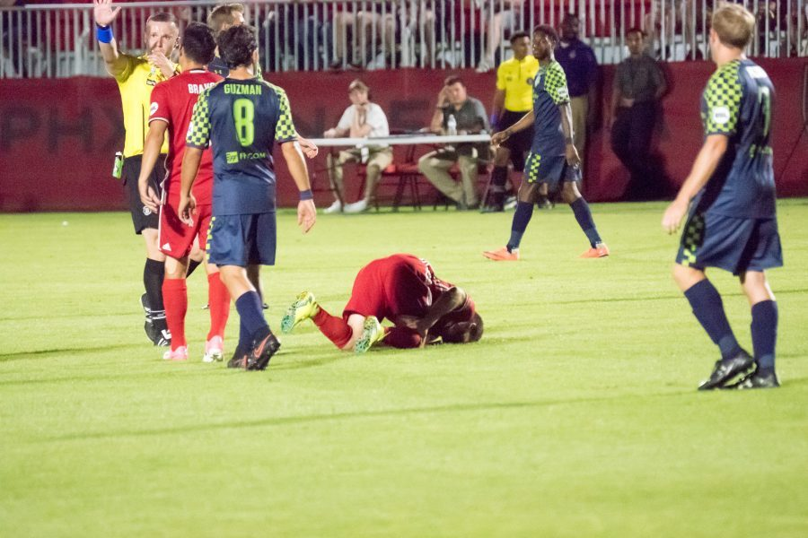 Victory at a Cost: Phoenix Rising defeats OKC Energy 2-1 but loses Rooney, Riggi
