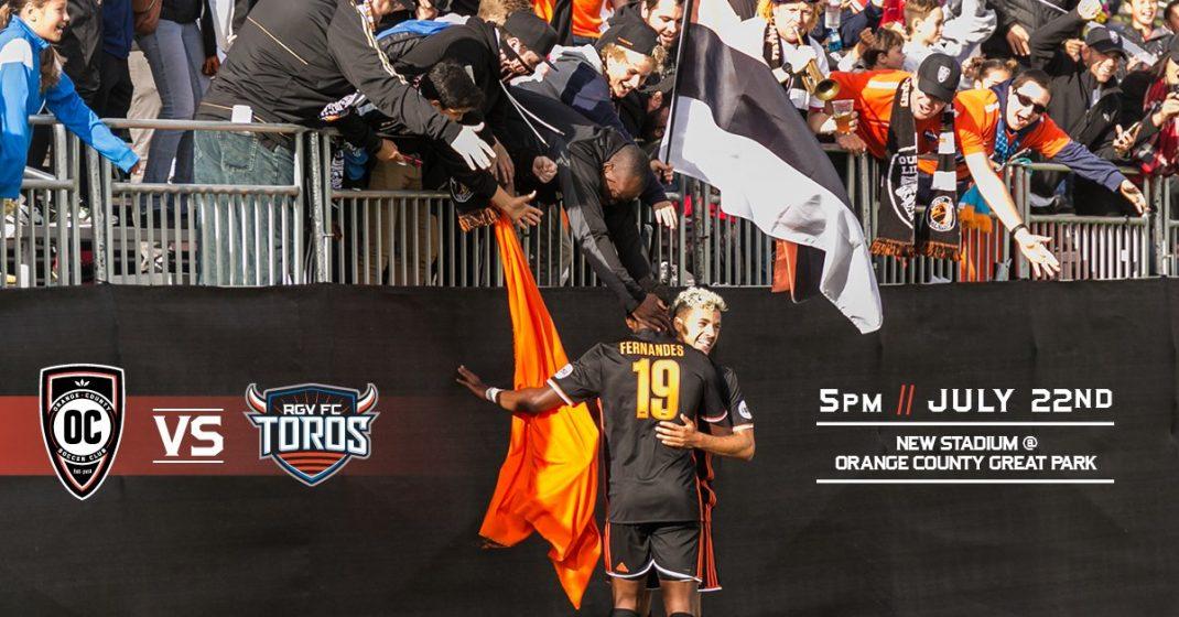 Orange County SC Host Return Leg vs. RGVFC, Announce Stadium Opening