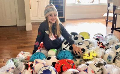 Giving Back: Local baller collects new soccer balls for Copa Corazon in Tijuana