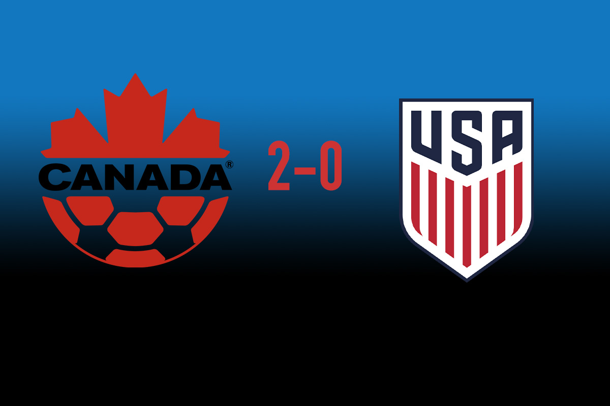 2-0, ey? USA falls to Canada for the first time in decades
