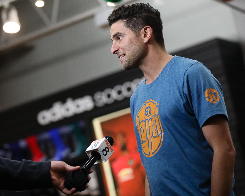 Photo Album: San Diego Loyal Soccer Club's Sal Zizzo Greets Fans at Soccerloco