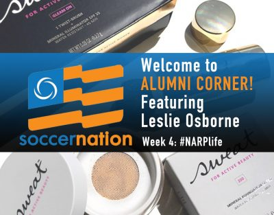Alumni corner: Leslie Osborne, Sweat Cosmetics, and #NARPLife