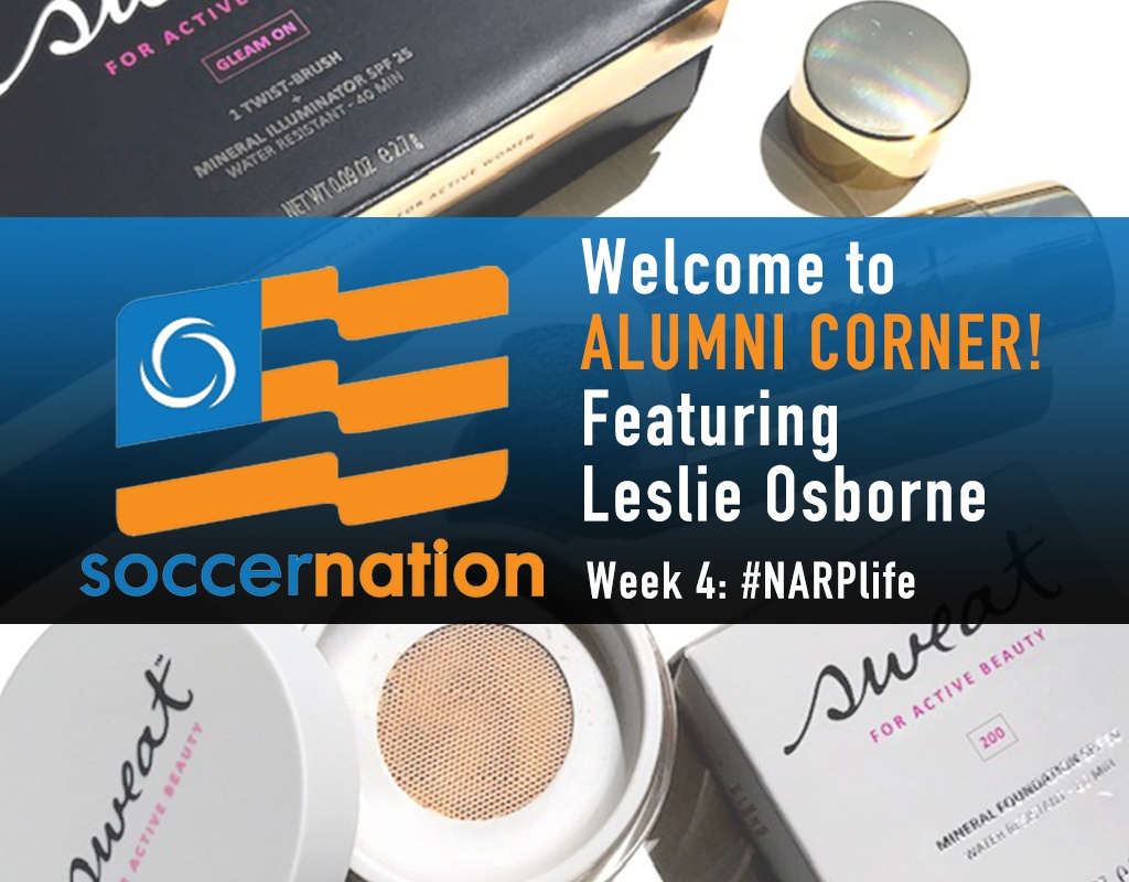 Alumni corner: Leslie Osborne, Sweat Cosmetics, and #NARPLife