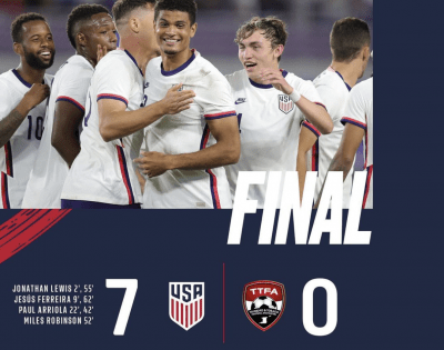 USMNT Completely Dominant Against Trinidad and Tobago