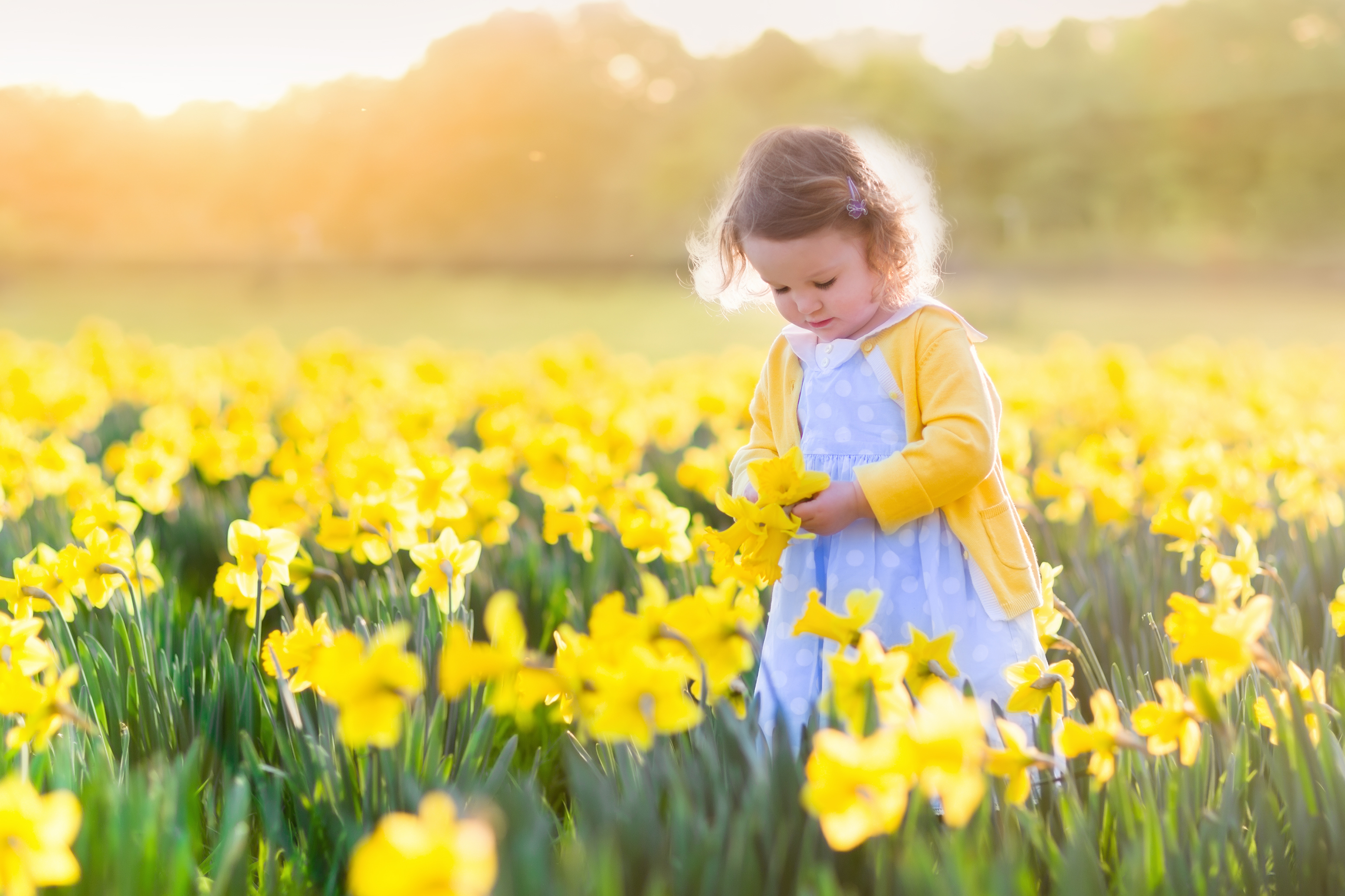 Little Girl With Flower At IVFLA Fertility Clinic