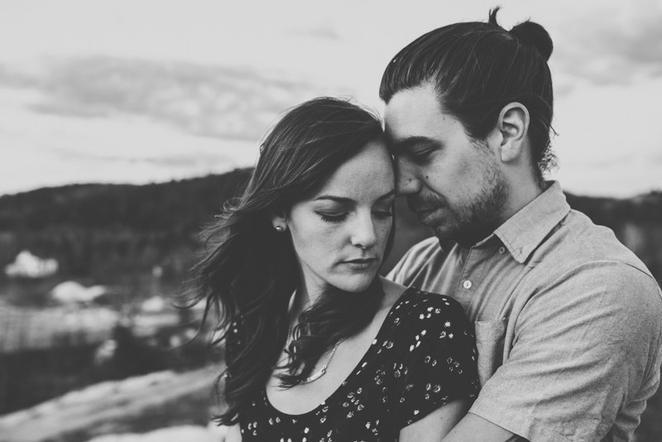 Ottawa hipster couple engagement