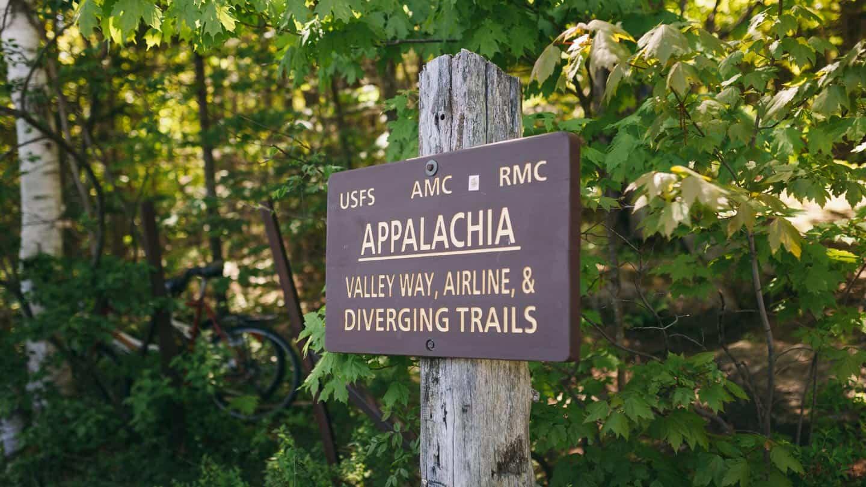 Appalachia trail sign