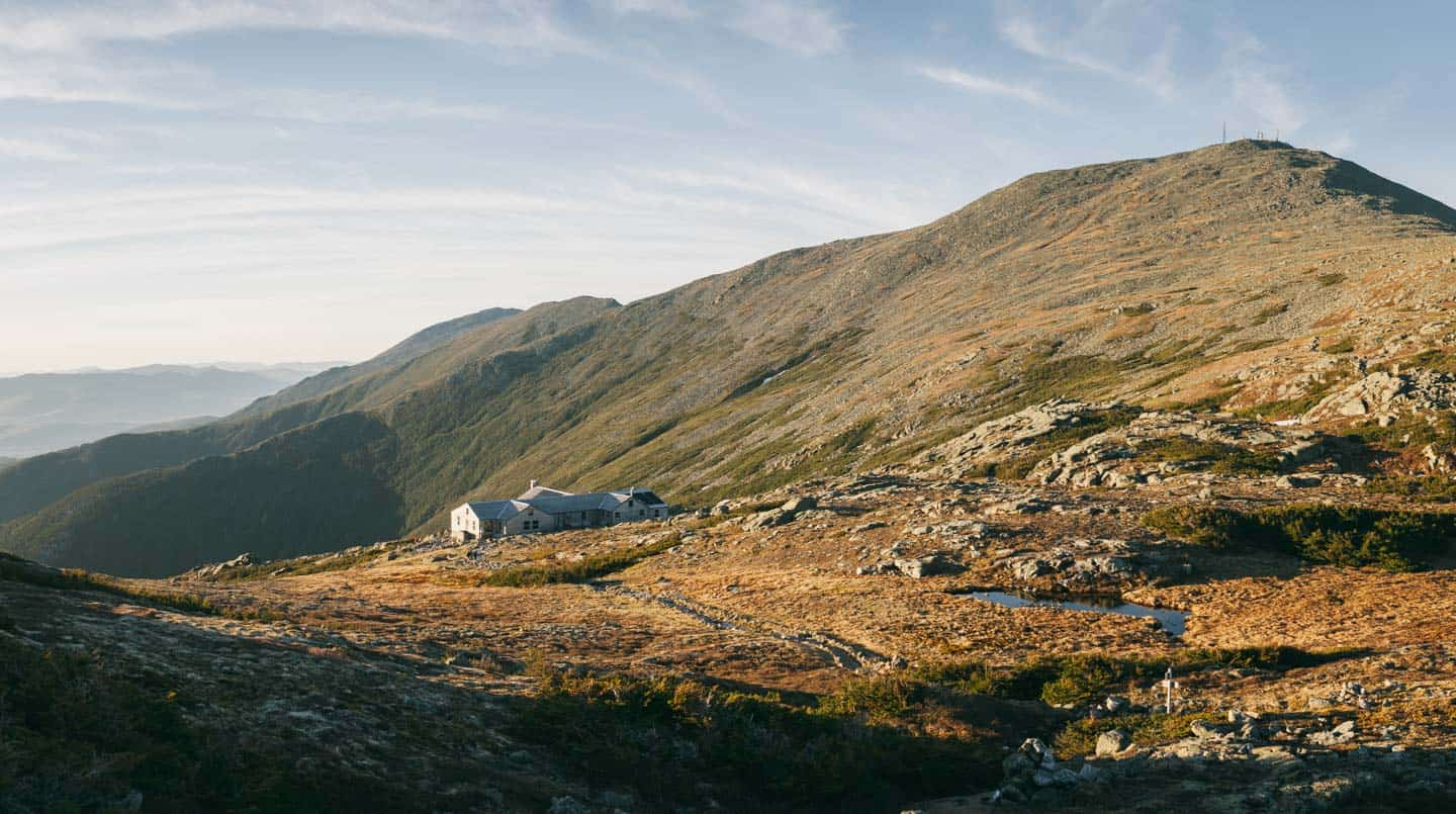 Lakes of the Clouds Hut and Mount Washington