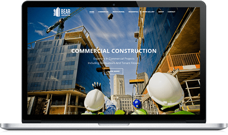 Desktop Contractor Website