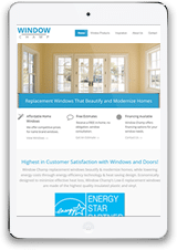 Window Company Tablet Website