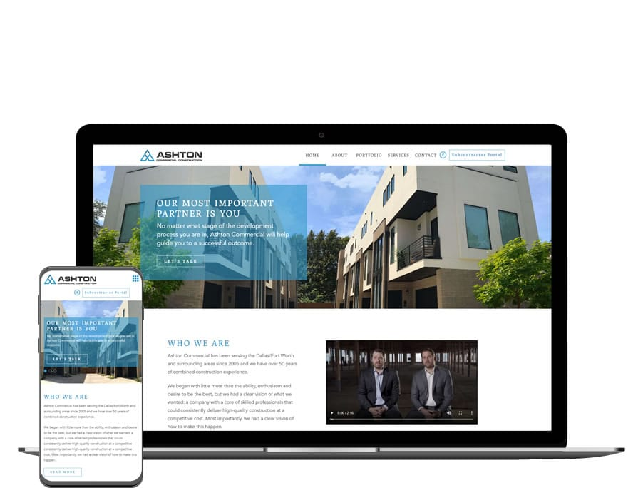 Ashton Commercial Construction Website