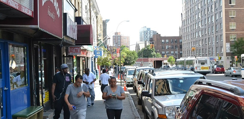 Street view, Melrose in the Bronx.