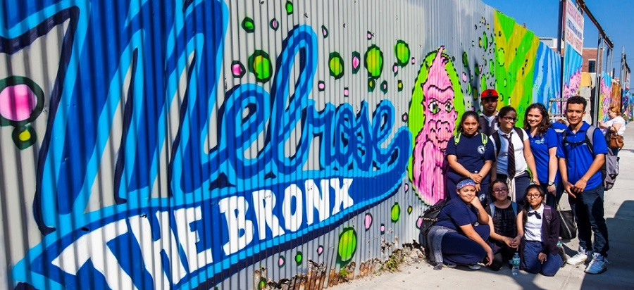 Mural at Melrose in the Bronx.