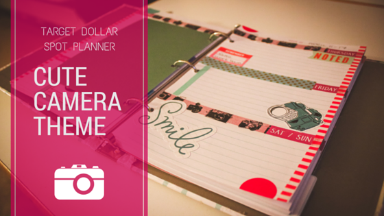 Cute Camera Theme for My Target Dollar Spot Planner