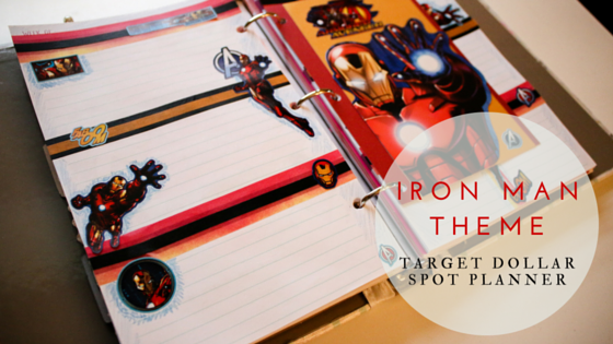 This Week's Iron Man Theme for Target Dollar Spot Planner