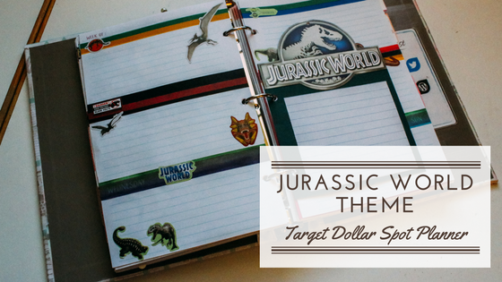Target Dollar Spot Planner | Jurassic World Weekly Spread