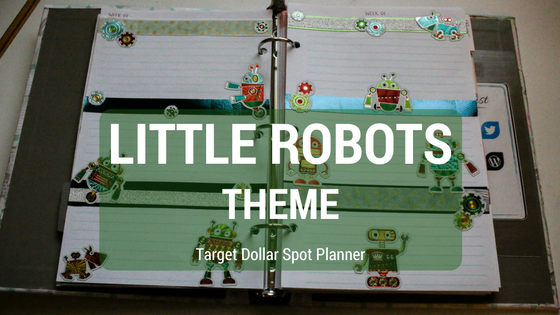 Target Dollar Spot Planner | Little Robots Weekly Theme