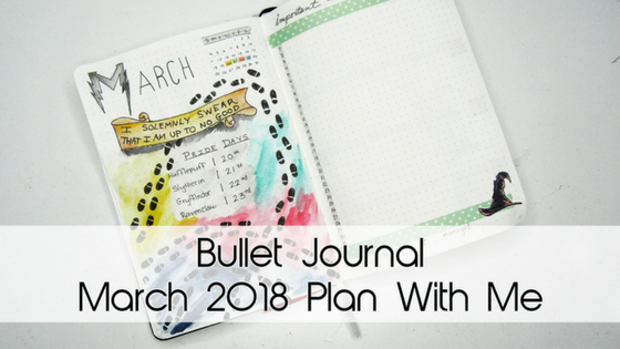 Harry Potter March 2018 Bujo Theme