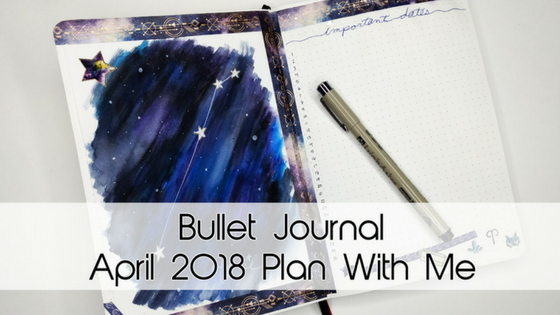 Galaxy April Bullet Journal Theme