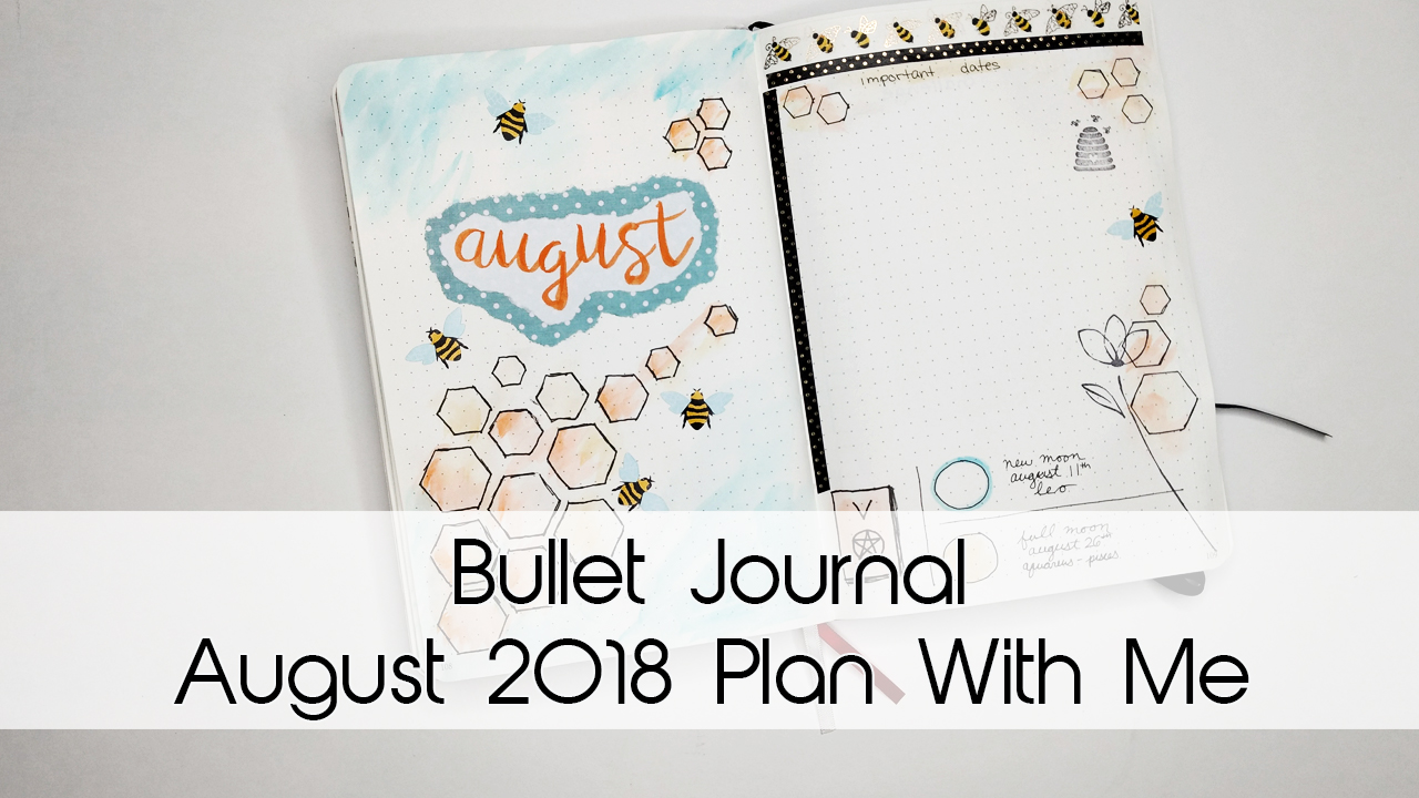 August Bumblebee Bullet Journal Theme