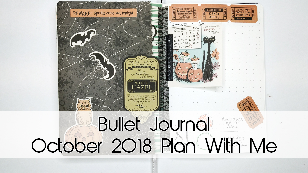 A Witchy Halloween October Bullet Journal Theme