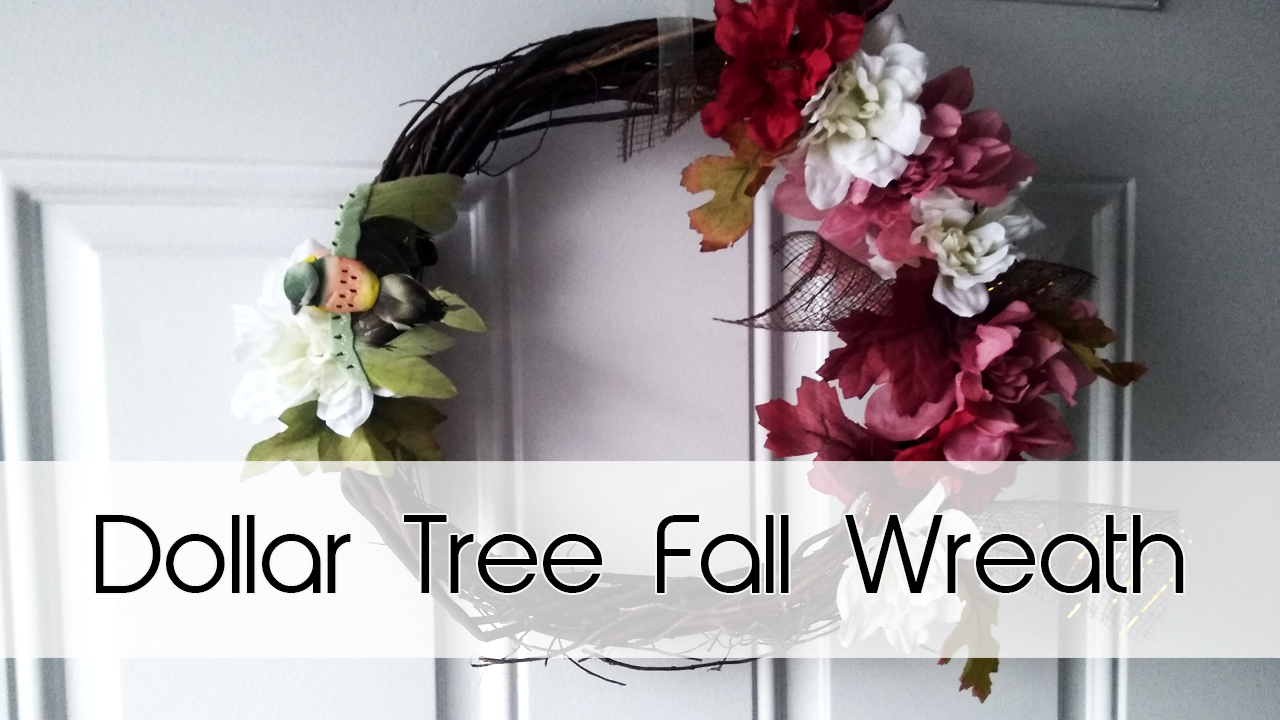 Dollar Tree Autumn Wreath DIY