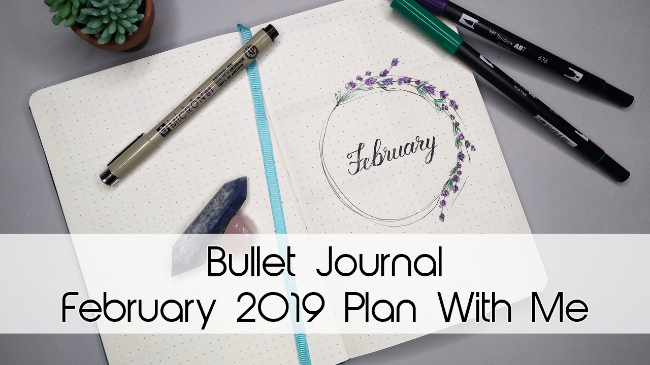 February Lavender Bullet Journal Theme