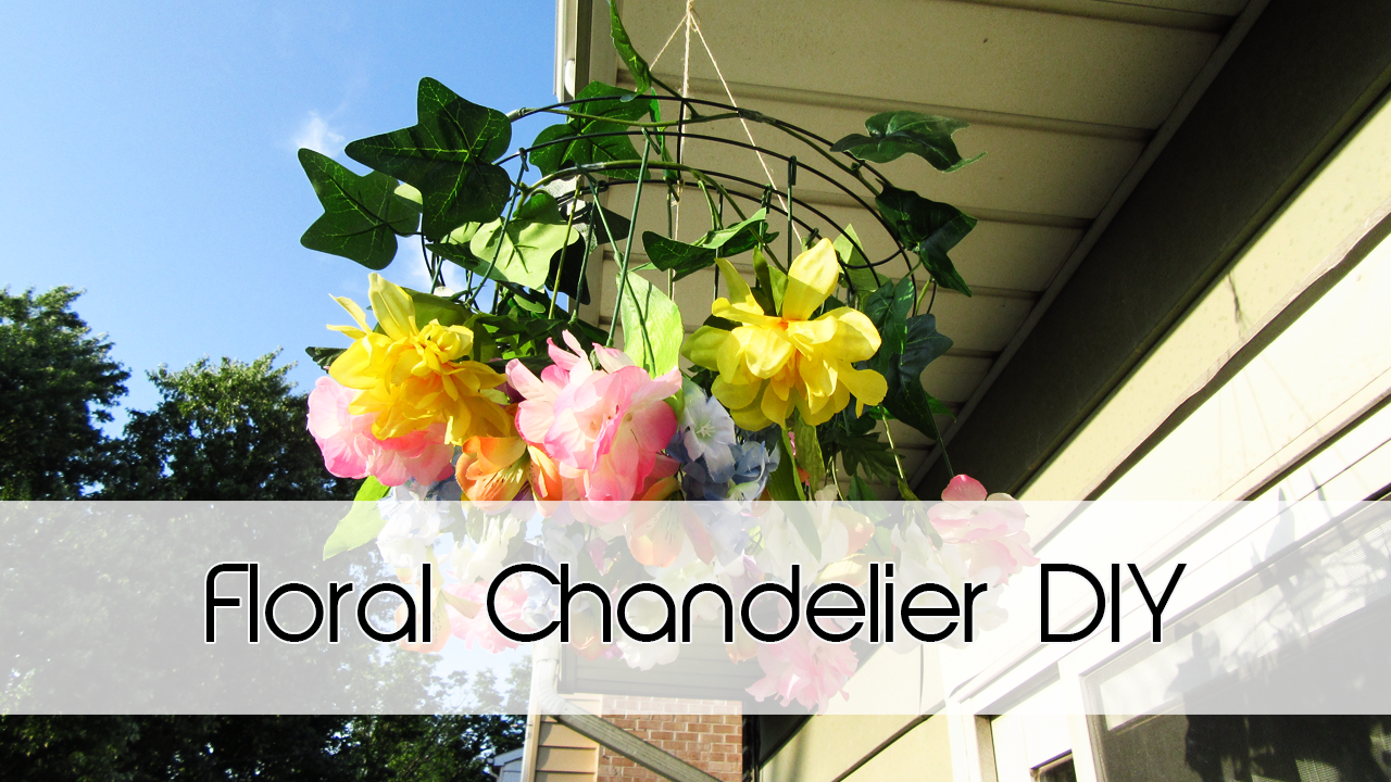 Floral Chandelier | Dollar Tree DIY