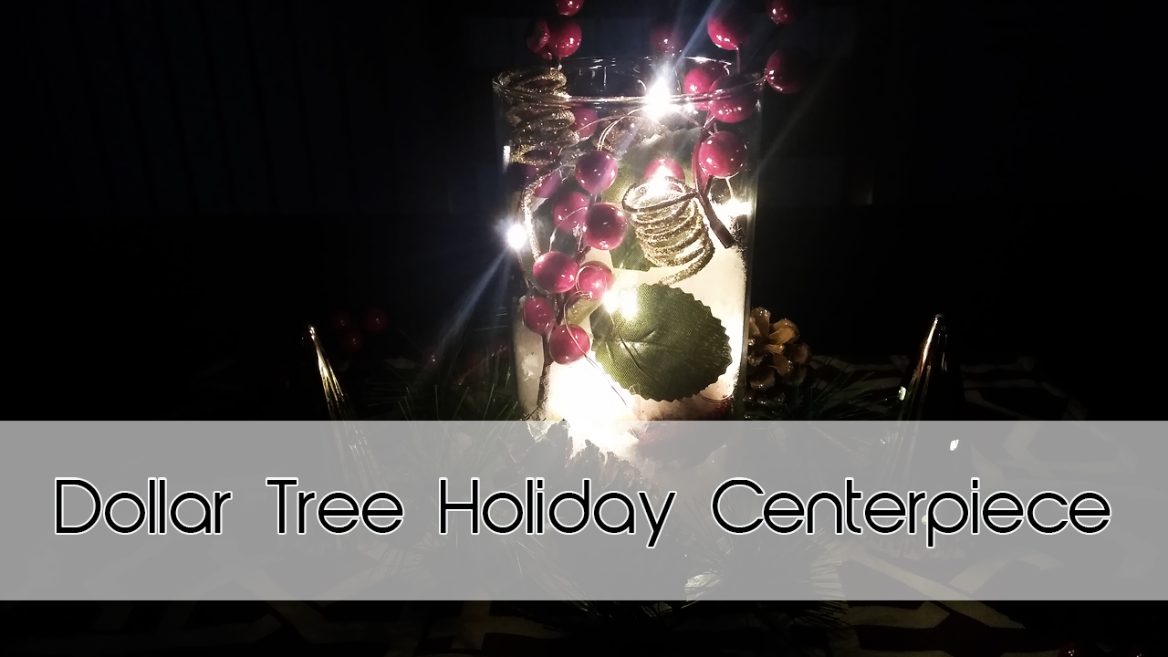 Holiday Table Centerpiece | Dollar Tree DIY