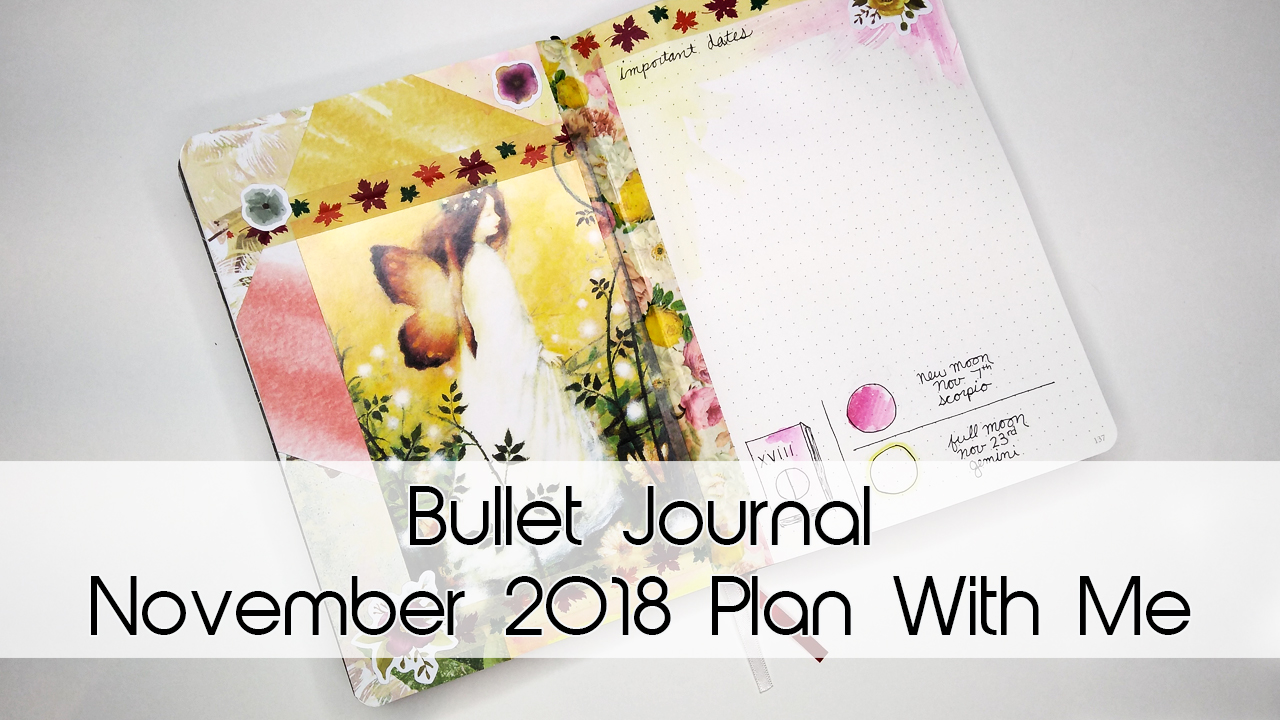 November Autumn Fairy Bullet Journal Theme