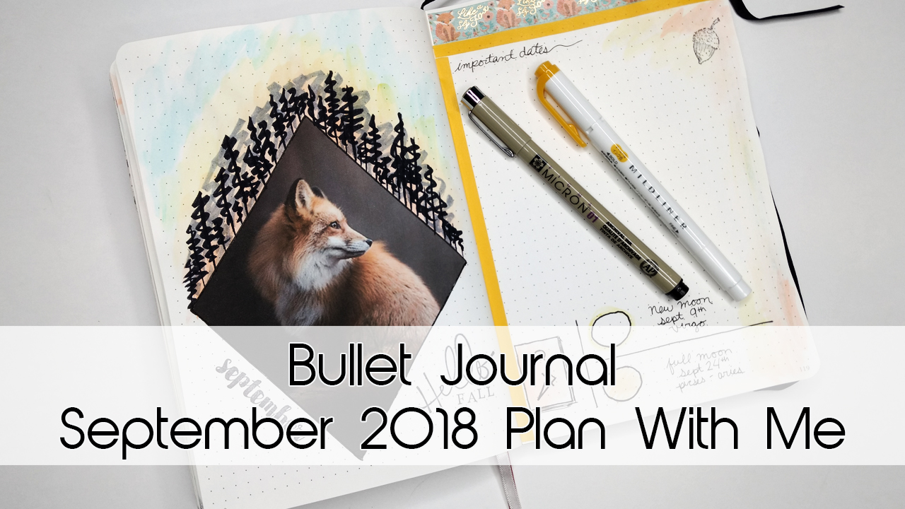September Foxy Fall Bullet Journal Theme
