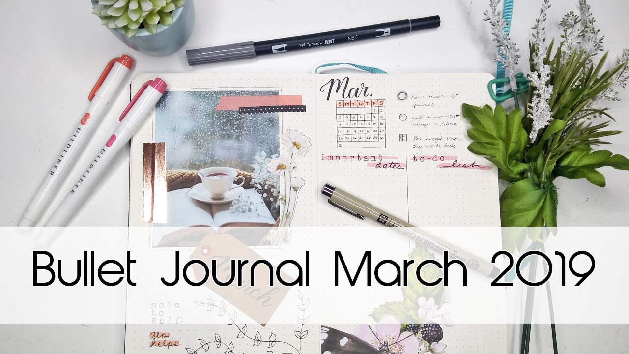 March Vintage Tea Bullet Journal Theme