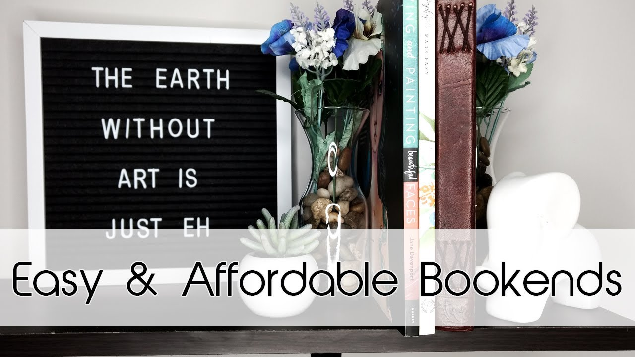 Easy & Affordable Bookends   Dollar Tree DIY