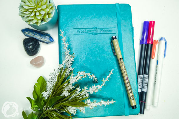 The Wordsworth Planner in the lovely turquoise color!