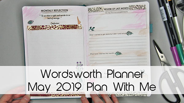 Wordsworth Planner May 2019 Plan With Me