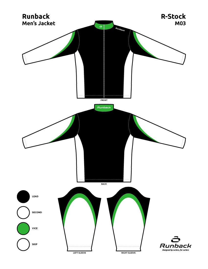 Runback Curling Jacket Stock Design M03