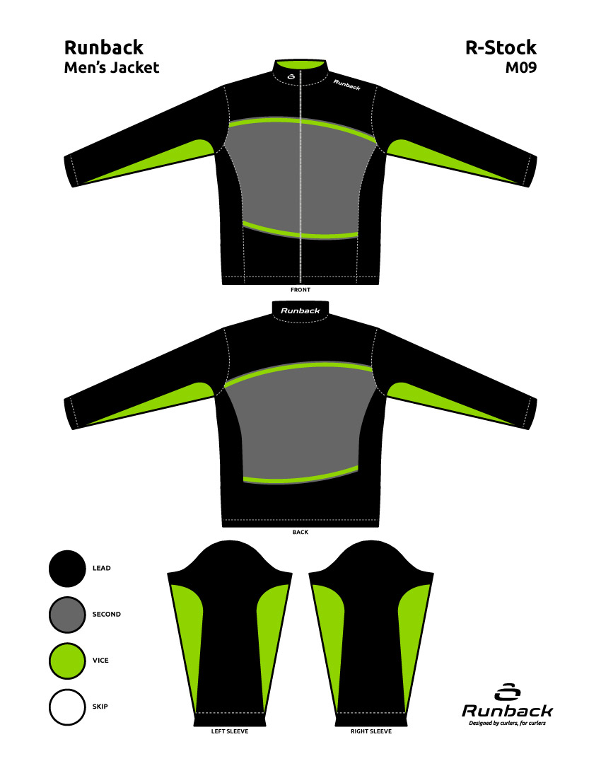 Runback Curling Jacket Stock Design M09