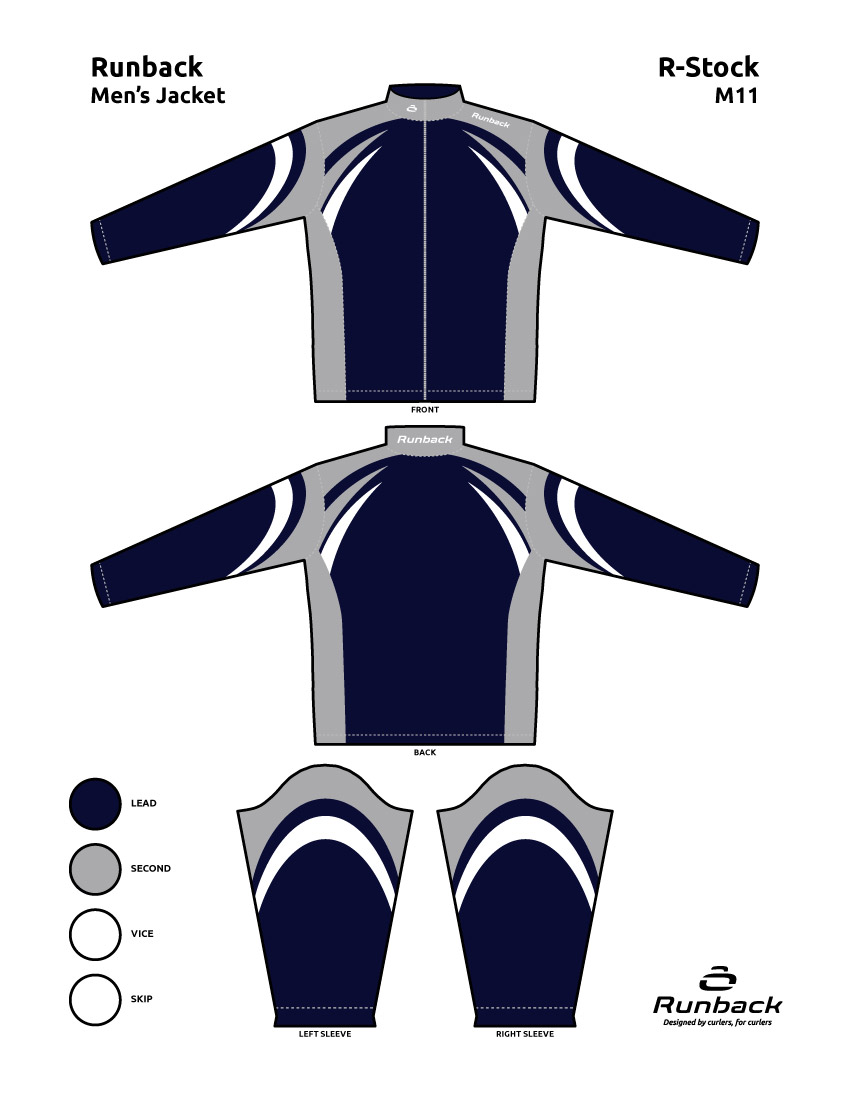 Runback Curling Jacket Stock Design M11