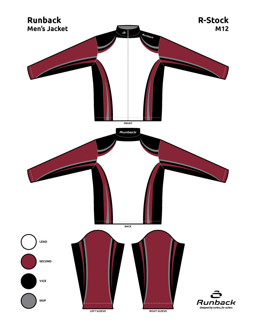 Runback Curling Jacket Stock Design M12